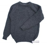 Fishermans Sweater, Charcoal Grey