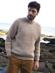 Fishermans Rib Jumper, Oatmeal