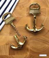 Solid Brass Anchor Corkscrew and Bottle Opener