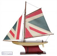 Union Jack Sailing Boat Model
