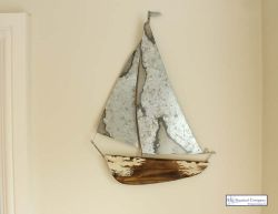 Distressed Metal Yacht Wall Art