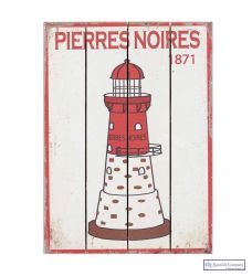 "Lighthouse Wall Decor Picture, ""PIERRES NOIRES"""
