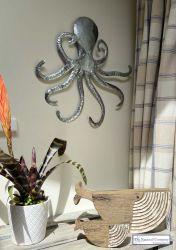 Metal Octopus Wall Art