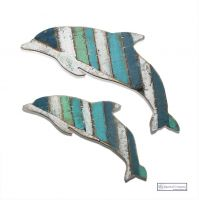 Mother and Baby Dolphin Pair - Wall Art